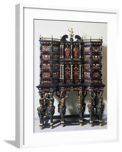 Ebony Cabinet with Inlays--Framed Art Print