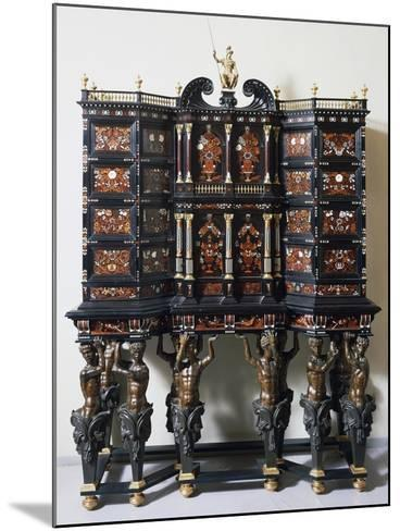 Ebony Cabinet with Inlays--Mounted Giclee Print