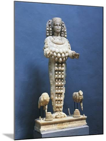Roman Marble Copy of Colossal Statue of Many Breasted Artemis--Mounted Giclee Print