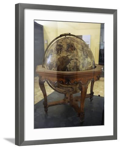 Terrestrial Globe by Cosmographer Vicenzo Coronelli--Framed Art Print