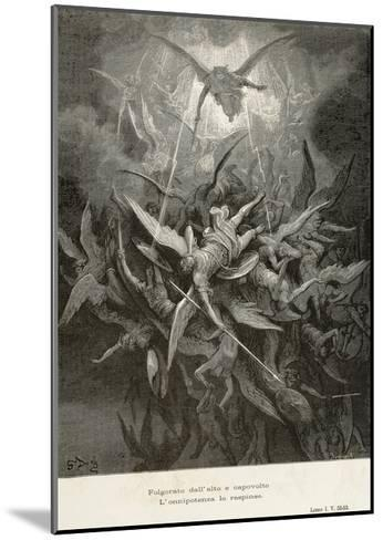 The Fall of Angels, Scene from Paradise Lost by John Milton--Mounted Giclee Print