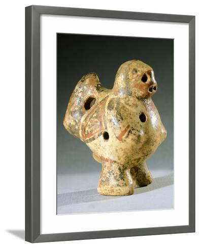 Vase in the Form of an Ocarina, Artifact Originating from Chiriqui--Framed Art Print