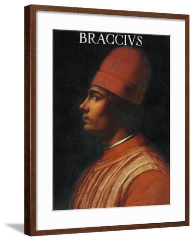Portrait of Andrea Fortebracci, also known as Braccio Da Montone--Framed Art Print