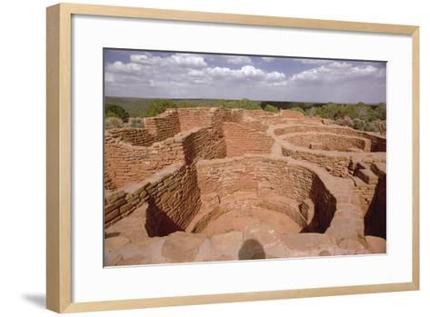 View of Pueblo Indian Kivas, Built 11th-14th Century--Framed Art Print