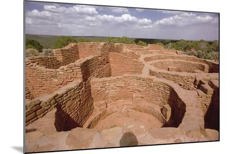 View of Pueblo Indian Kivas, Built 11th-14th Century--Mounted Photographic Print