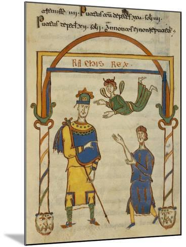 King Ratchis, Miniature from the Codex Matritensis Leges Langobardorum--Mounted Giclee Print