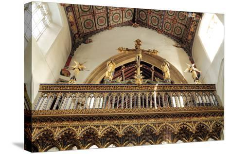 Rood Screen, Loft and Vault, Church of St Peter and St Paul, Eye, Suffolk--Stretched Canvas Print