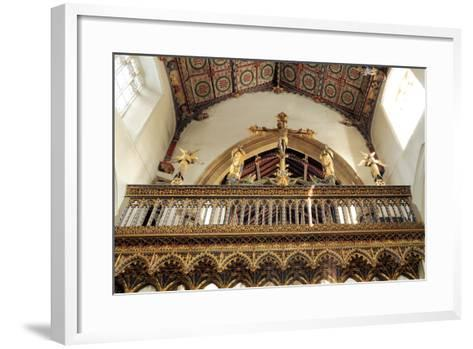 Rood Screen, Loft and Vault, Church of St Peter and St Paul, Eye, Suffolk--Framed Art Print