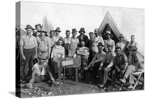 Oversea Railway Laborers Relax at their Camp, C.1907--Stretched Canvas Print