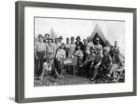 Oversea Railway Laborers Relax at their Camp, C.1907--Framed Art Print