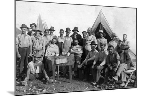 Oversea Railway Laborers Relax at their Camp, C.1907--Mounted Photographic Print