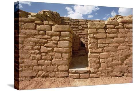 Remains of Pueblo Indian Dwellings, Built 11th-14th Century--Stretched Canvas Print