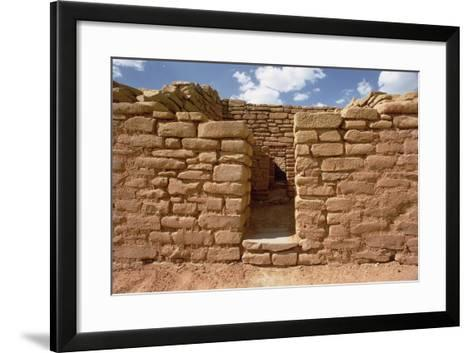 Remains of Pueblo Indian Dwellings, Built 11th-14th Century--Framed Art Print