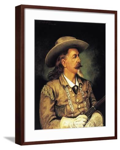 Ritratto Di Buffalo Bill, Pseudonym of William Frederick Cody--Framed Art Print