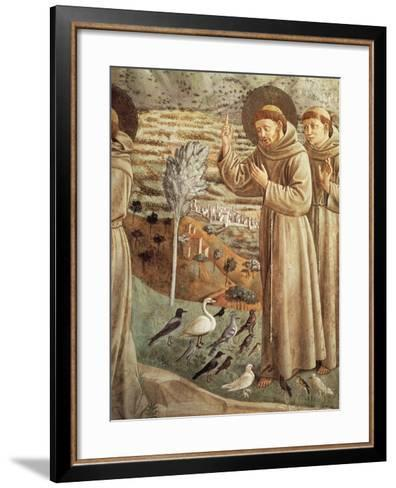 Stories from Life of St Francis, Preaching to Birds--Framed Art Print