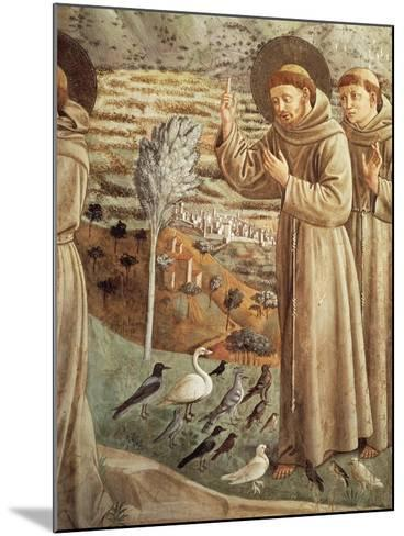 Stories from Life of St Francis, Preaching to Birds--Mounted Giclee Print