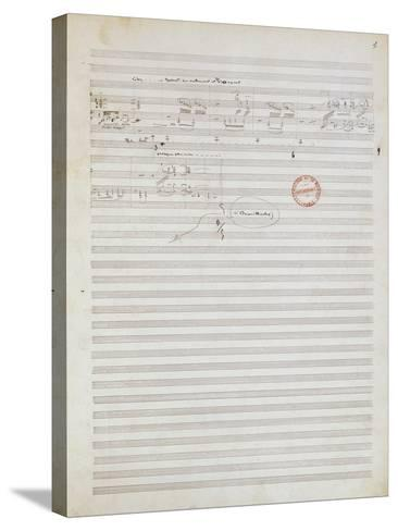 Score for Brouillards, Prelude 1 by Claude Debussy--Stretched Canvas Print