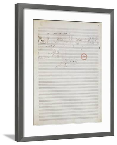 Score for Brouillards, Prelude 1 by Claude Debussy--Framed Art Print