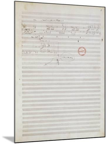 Score for Brouillards, Prelude 1 by Claude Debussy--Mounted Giclee Print