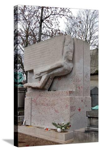 The Tomb of Oscar Wilde, P?re Lachaise Cemetery, Paris, France--Stretched Canvas Print
