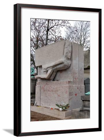 The Tomb of Oscar Wilde, P?re Lachaise Cemetery, Paris, France--Framed Art Print