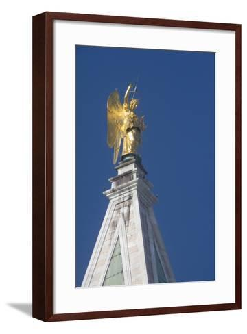 Statue Atop St Mark's Campanile, St Mark's Square, Venice--Framed Art Print