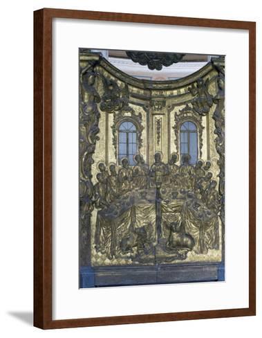 Last Supper, Wooden Bas-Relief, Cathedral of Dormition or Uspensky Sobor--Framed Art Print