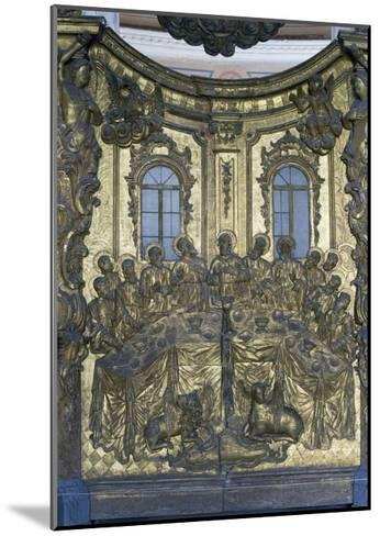 Last Supper, Wooden Bas-Relief, Cathedral of Dormition or Uspensky Sobor--Mounted Giclee Print