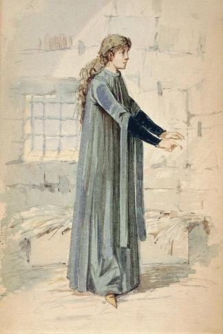 Italy, Milan, Costume Sketch for Margherita in Jail--Stretched Canvas Print