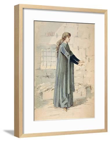 Italy, Milan, Costume Sketch for Margherita in Jail--Framed Art Print