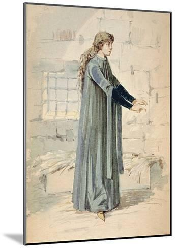Italy, Milan, Costume Sketch for Margherita in Jail--Mounted Giclee Print