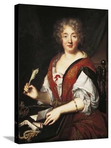 Portrait of Marie De Rabutin-Chantal, Marquise of Sevigne--Stretched Canvas Print