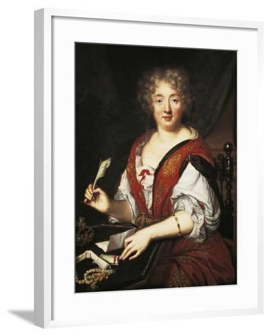 Portrait of Marie De Rabutin-Chantal, Marquise of Sevigne--Framed Art Print