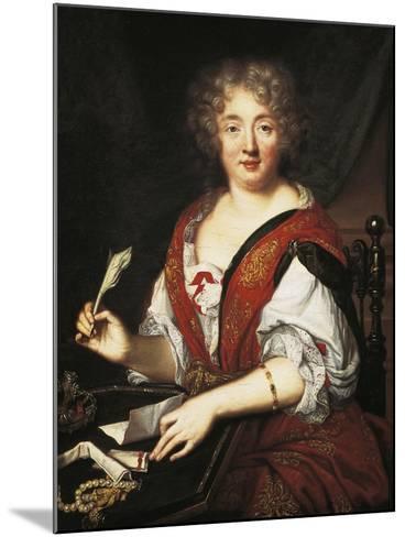 Portrait of Marie De Rabutin-Chantal, Marquise of Sevigne--Mounted Giclee Print