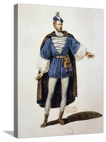 Costume Sketch for Role of Arnoldo, Performed by Tenor Adolphe Nourrit--Stretched Canvas Print