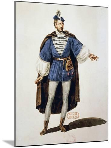 Costume Sketch for Role of Arnoldo, Performed by Tenor Adolphe Nourrit--Mounted Giclee Print
