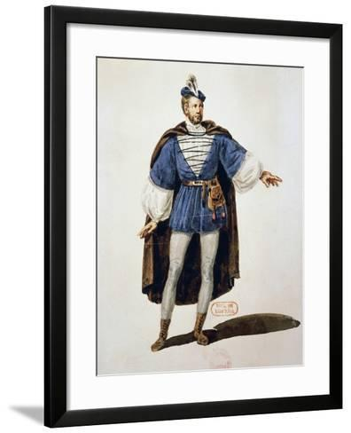 Costume Sketch for Role of Arnoldo, Performed by Tenor Adolphe Nourrit--Framed Art Print
