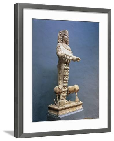Roman Marble Copy of Colossal Statue of Many Breasted Artemis--Framed Art Print