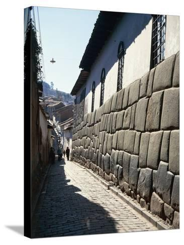 Peru, Cuzco, Wall of an Inca Building in Calle Hatunrumioc--Stretched Canvas Print