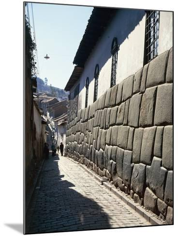 Peru, Cuzco, Wall of an Inca Building in Calle Hatunrumioc--Mounted Giclee Print