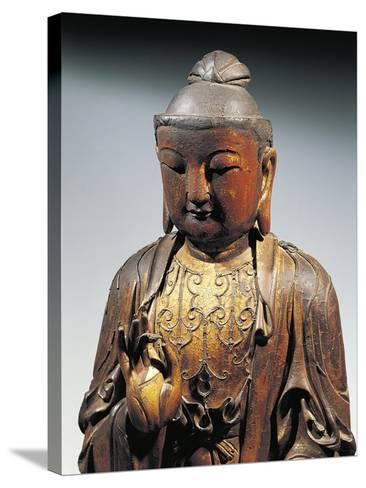Detail of Statuette Representing Buddha Doing the Reasoning Mudra--Stretched Canvas Print
