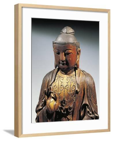 Detail of Statuette Representing Buddha Doing the Reasoning Mudra--Framed Art Print