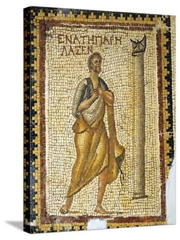 Mosaic Depicting Man Looking at Sundial, from Ancient Daphne--Stretched Canvas Print