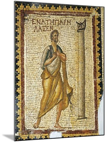 Mosaic Depicting Man Looking at Sundial, from Ancient Daphne--Mounted Giclee Print