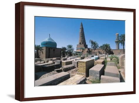 Cemetery Near the Sheikh Omar Al-Sahrawardi Shrine, Baghdad, Iraq--Framed Art Print