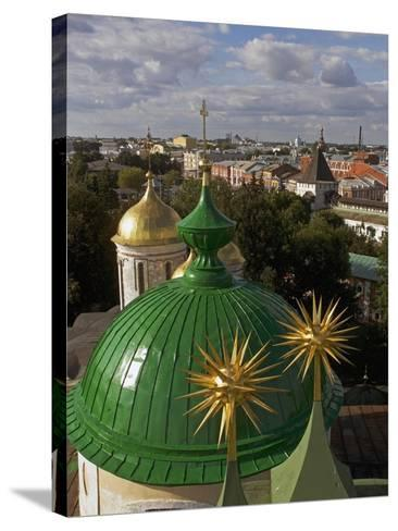 The Domes of Monastery of Transfiguration of Saviour--Stretched Canvas Print