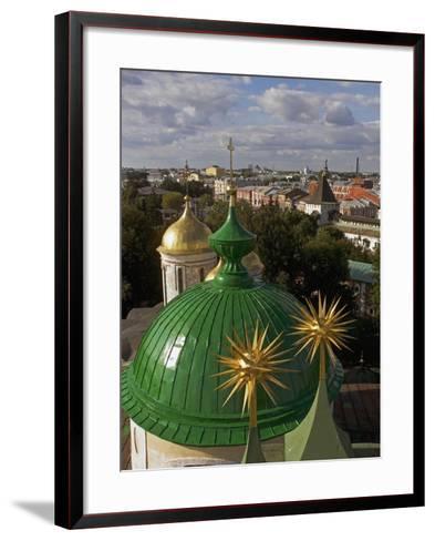 The Domes of Monastery of Transfiguration of Saviour--Framed Art Print