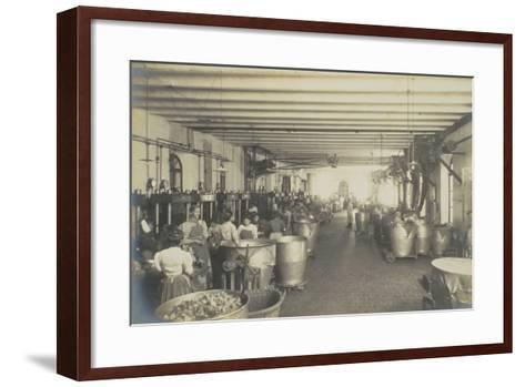 Pressing Room, from 'Industrie Des Parfums a Grasse', C.1900--Framed Art Print
