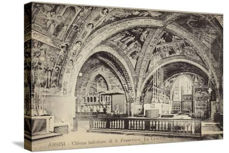 Postcard Depicting the Apse of the Basilica of San Francesco D'Assisi--Stretched Canvas Print