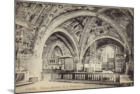 Postcard Depicting the Apse of the Basilica of San Francesco D'Assisi--Mounted Photographic Print